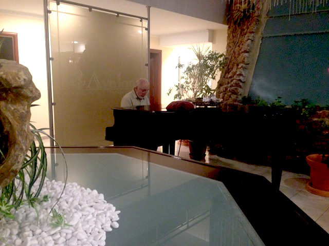 Eldridge at the piano.